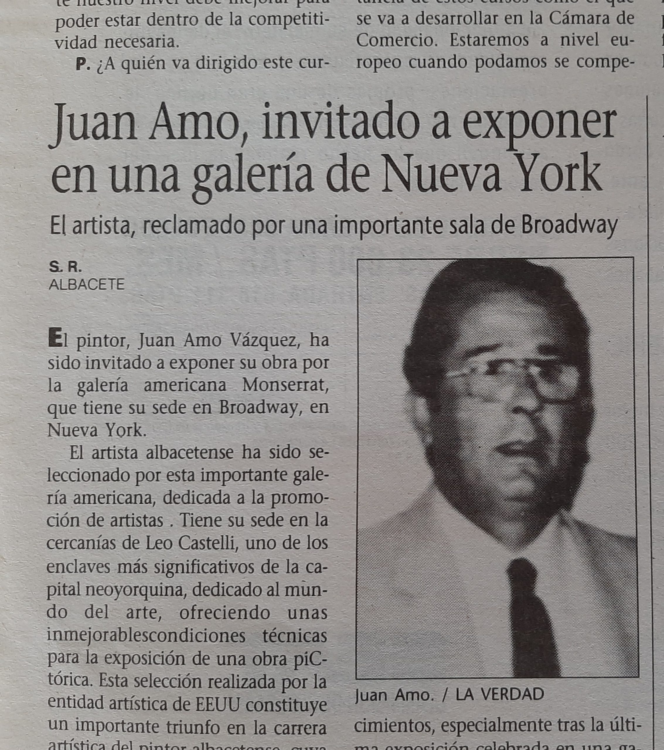 Juan Amo Vázquez. Pintores cotizados de Albacete