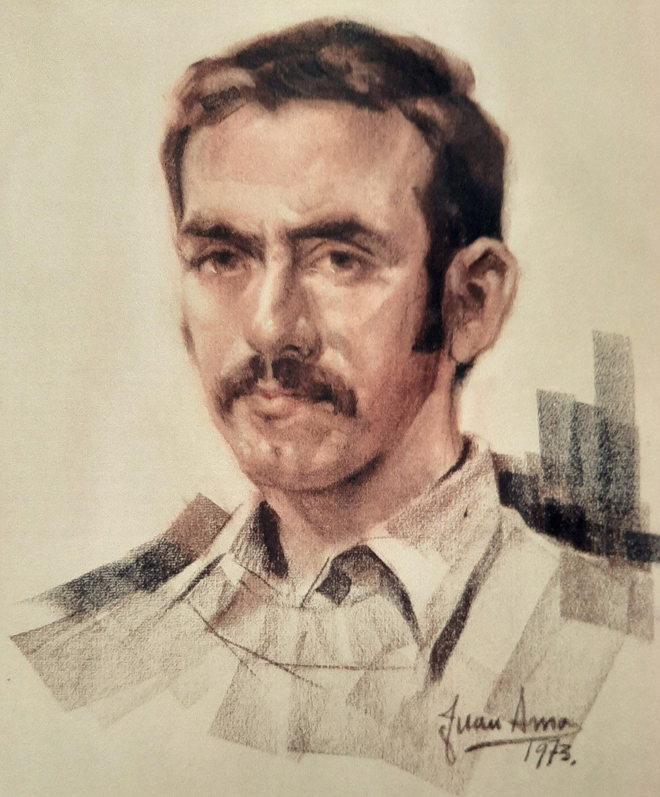 AURELIO PRETEL MARÍN. Retrato Dibujo de Juan Amo.