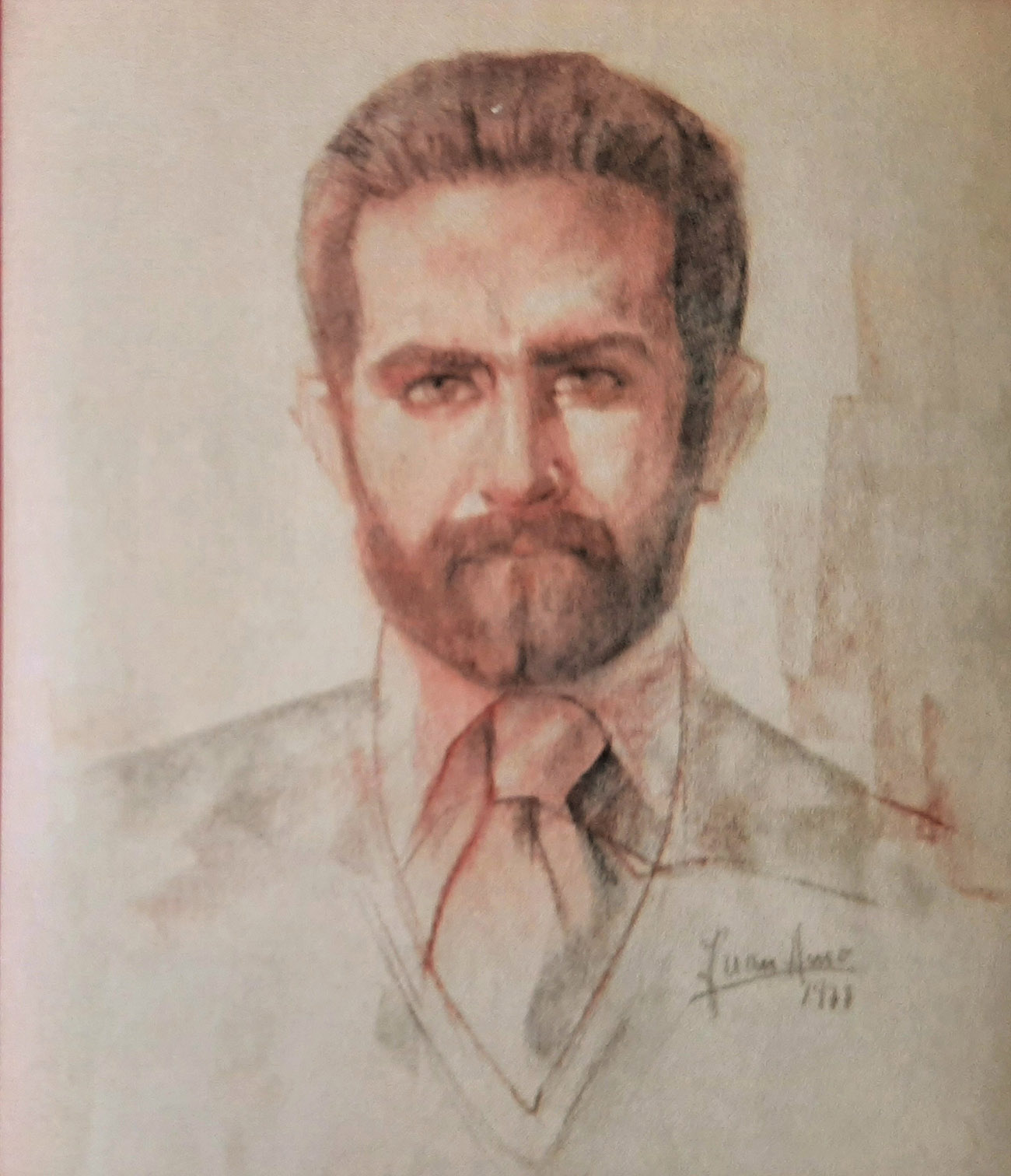 AGUSTIN PEIRÓ AMO. Retrato Dibujo de Juan Amo.