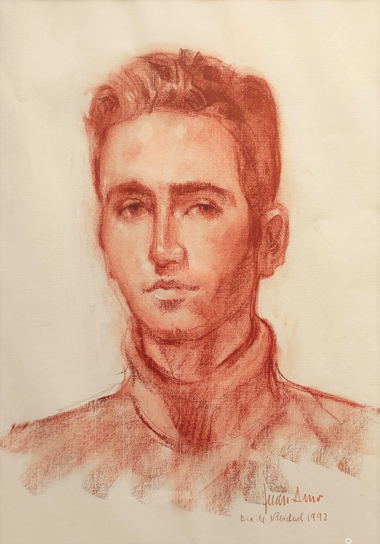 AGUSTIN PEIRÓ PÉREZ. Retrato Dibujo de Juan Amo