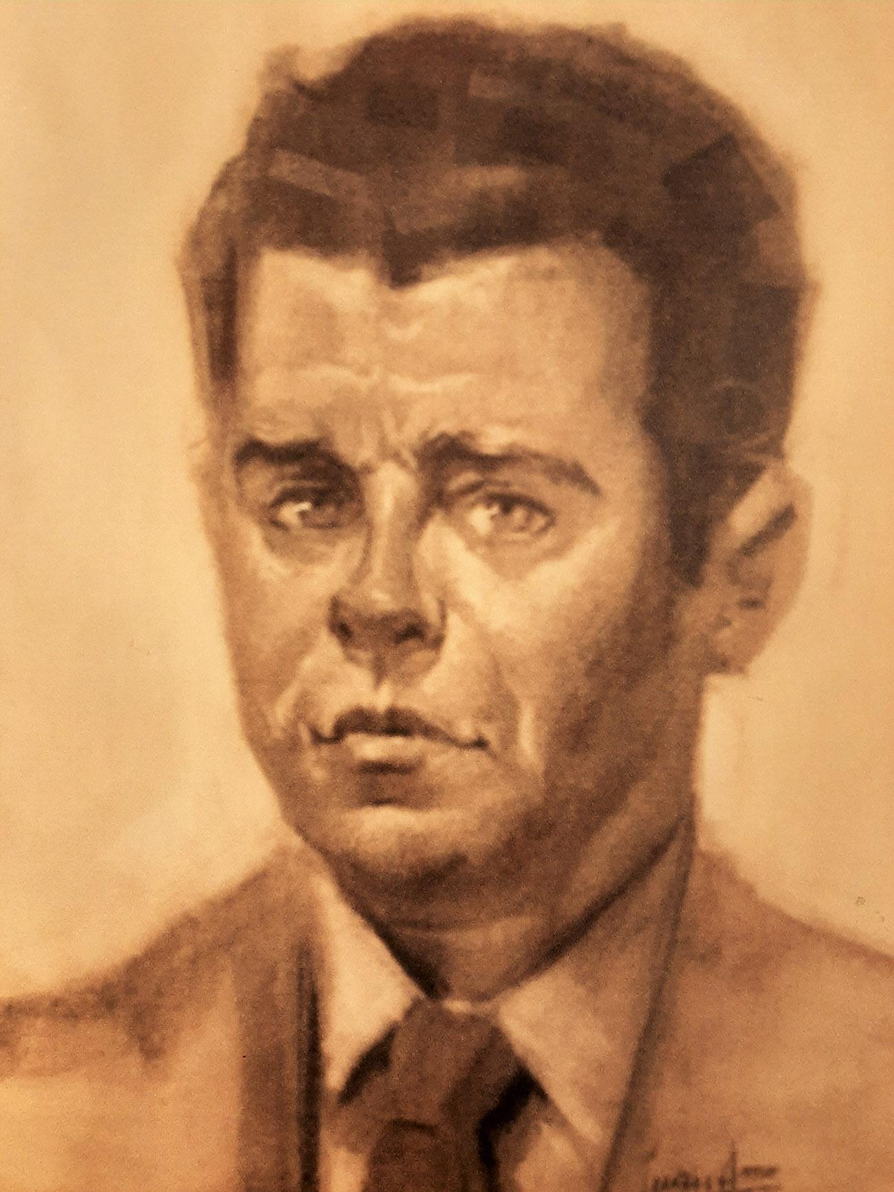 ANDRÉS GIMÉNEZ GARCÍA. Retrato Dibujo de Juan Amo.