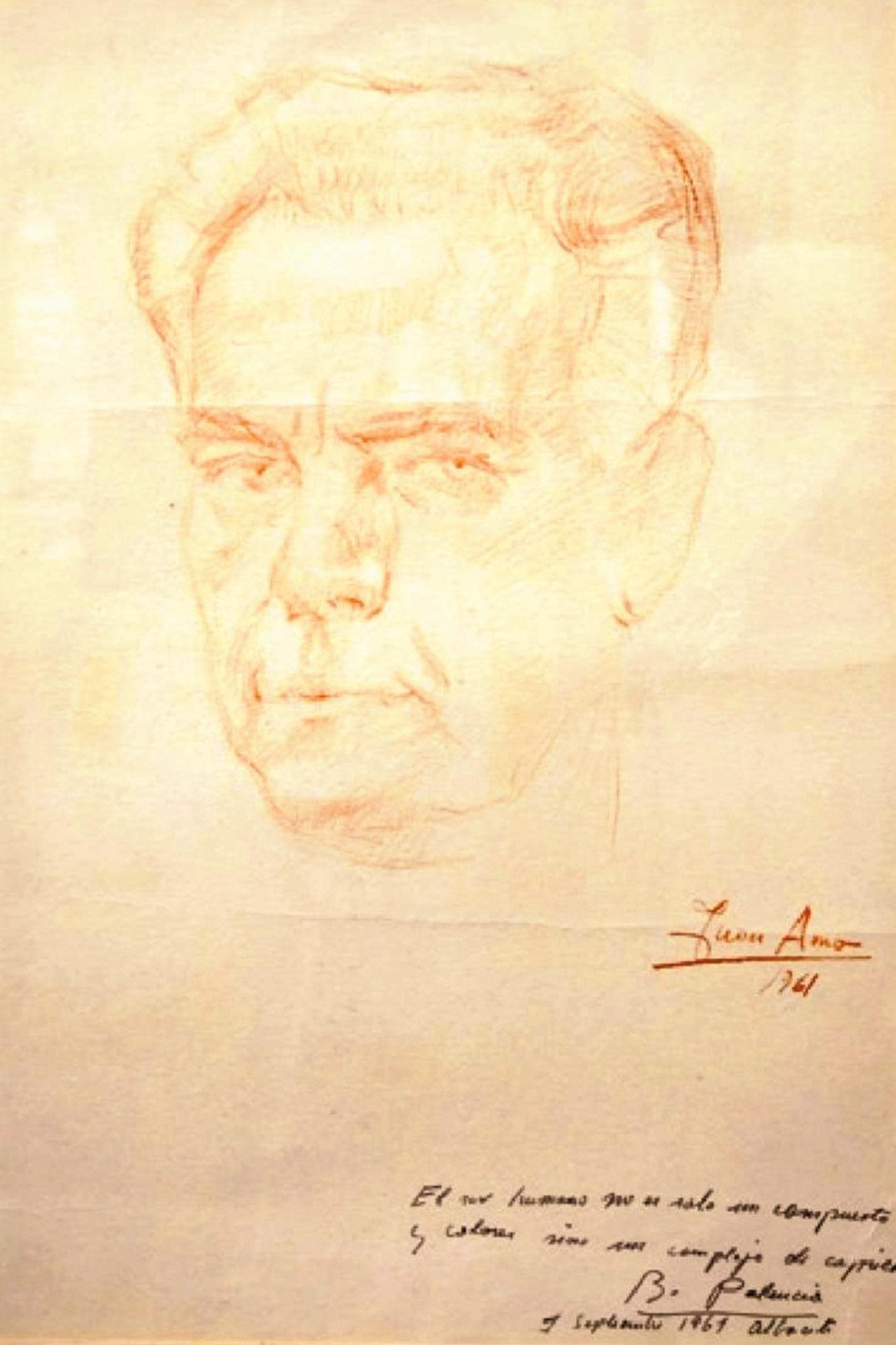 BENJAMÍN PALENCIA. Dibujo de Juan Amo.