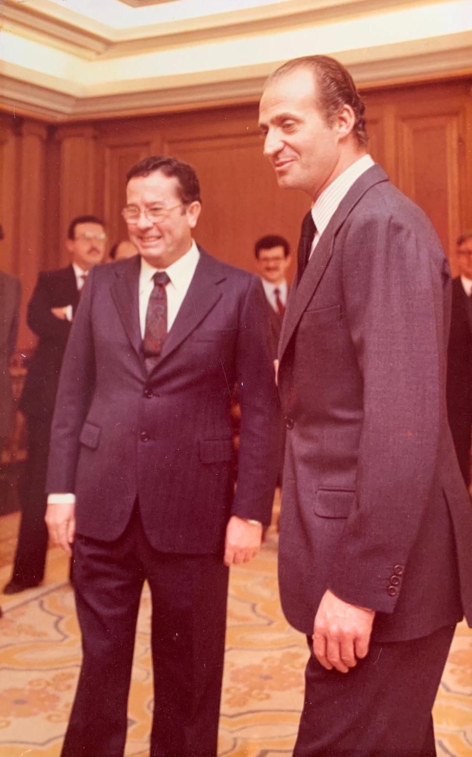 Juan Amo Vázquez en el Palacio de la Zarzuela