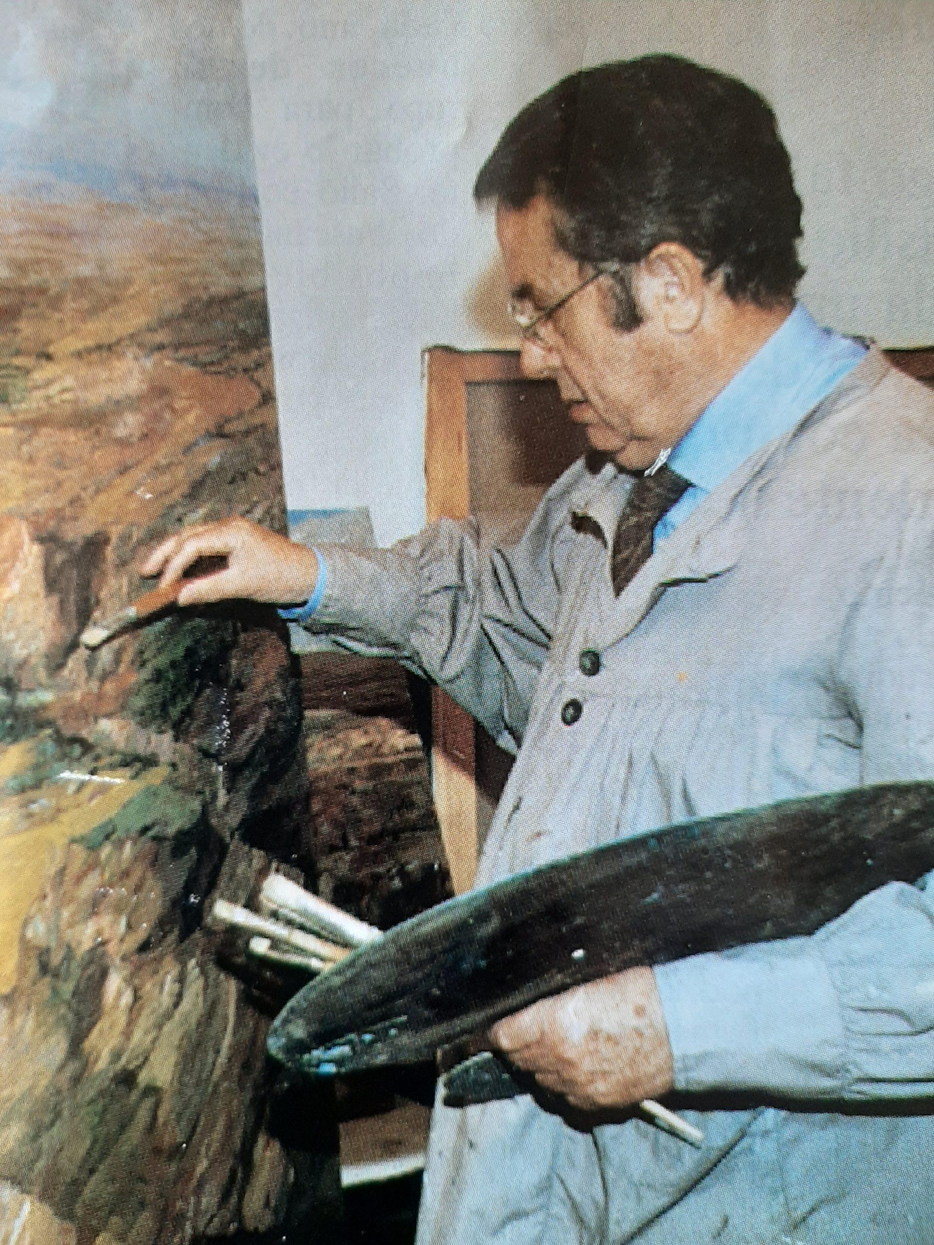 Juan Amo Vázquez en su estudio de Albacete.