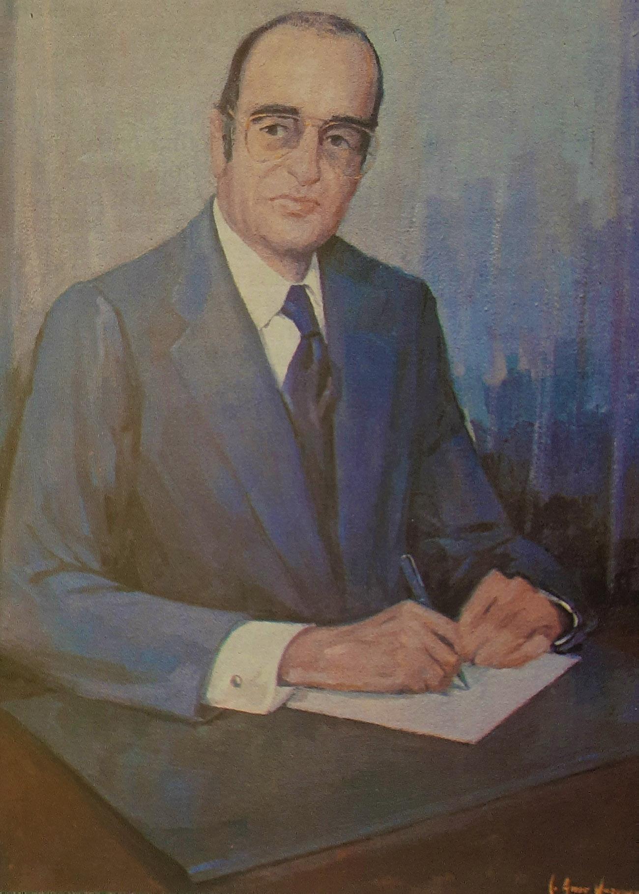 DIEGO CILLER MONTOYA. Óleo de Juan Amo.