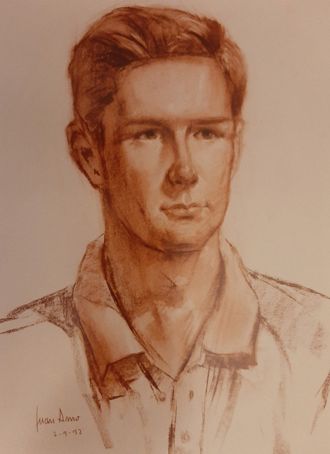 EMILIO MOLINA PEIRÓ. Retrato Dibujo de Juan Amo.