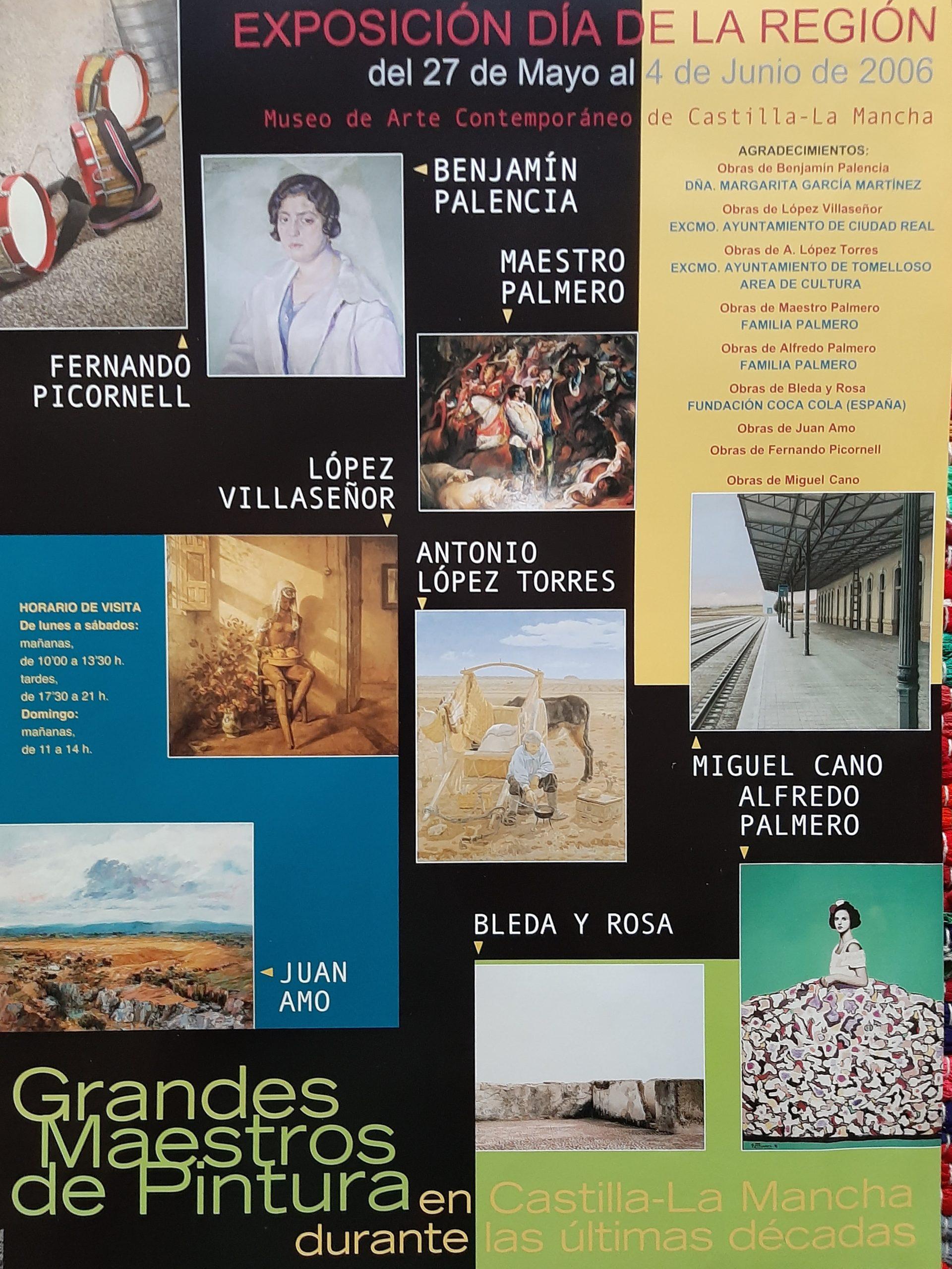 Exposición Grandes Maestros de Pintura en Castilla - La Mancha durante las ultimas décadas. (2006)