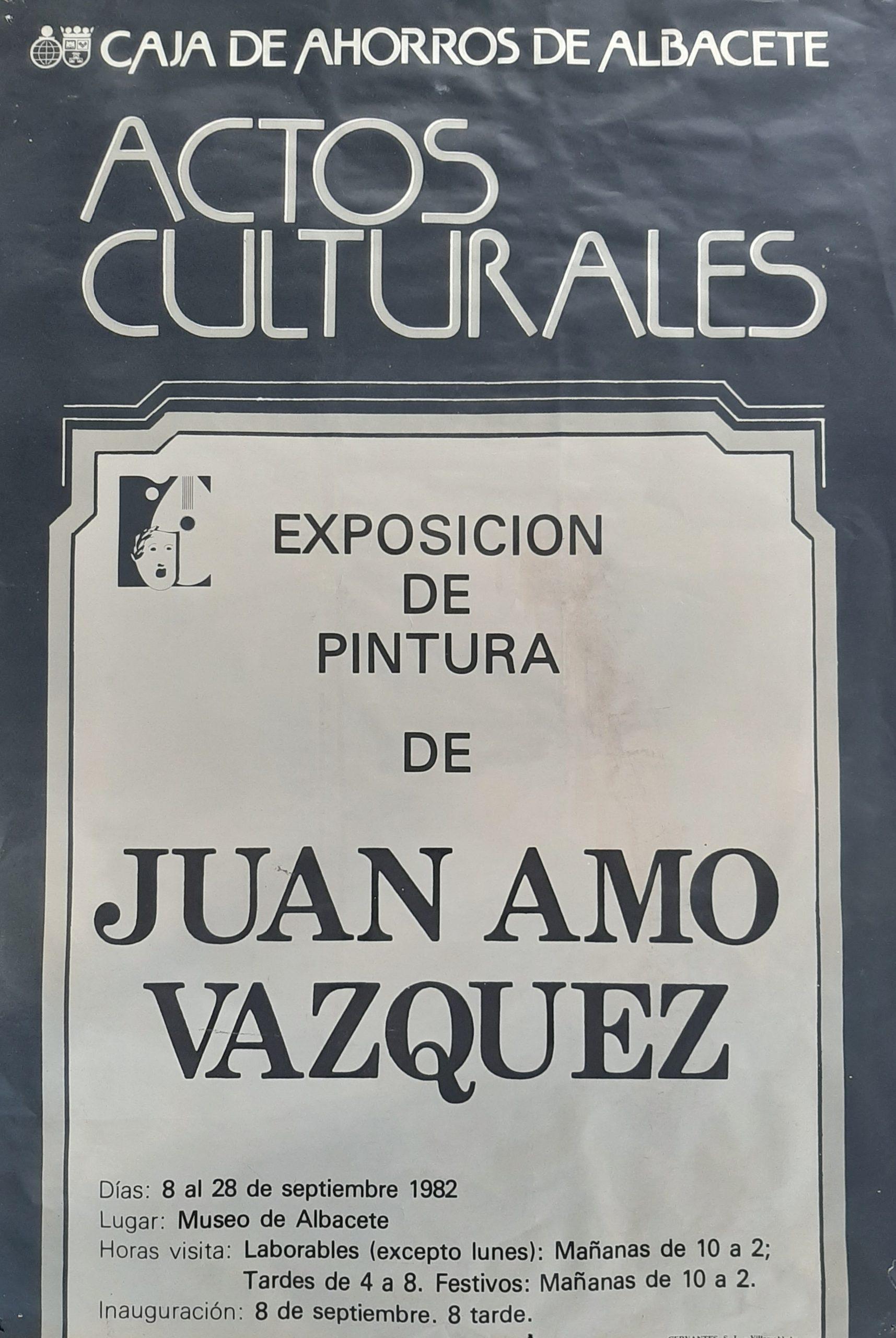 Exposición de Juan Amo Vázquez (1982). Museo de Albacete.