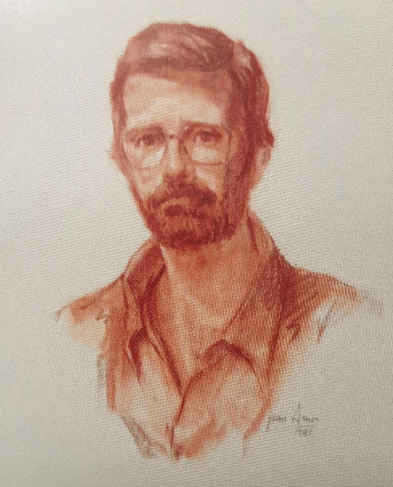 FRANCISCO FERNÁNDEZ SANTAMARIA. Retrato Dibujo de Juan Amo.