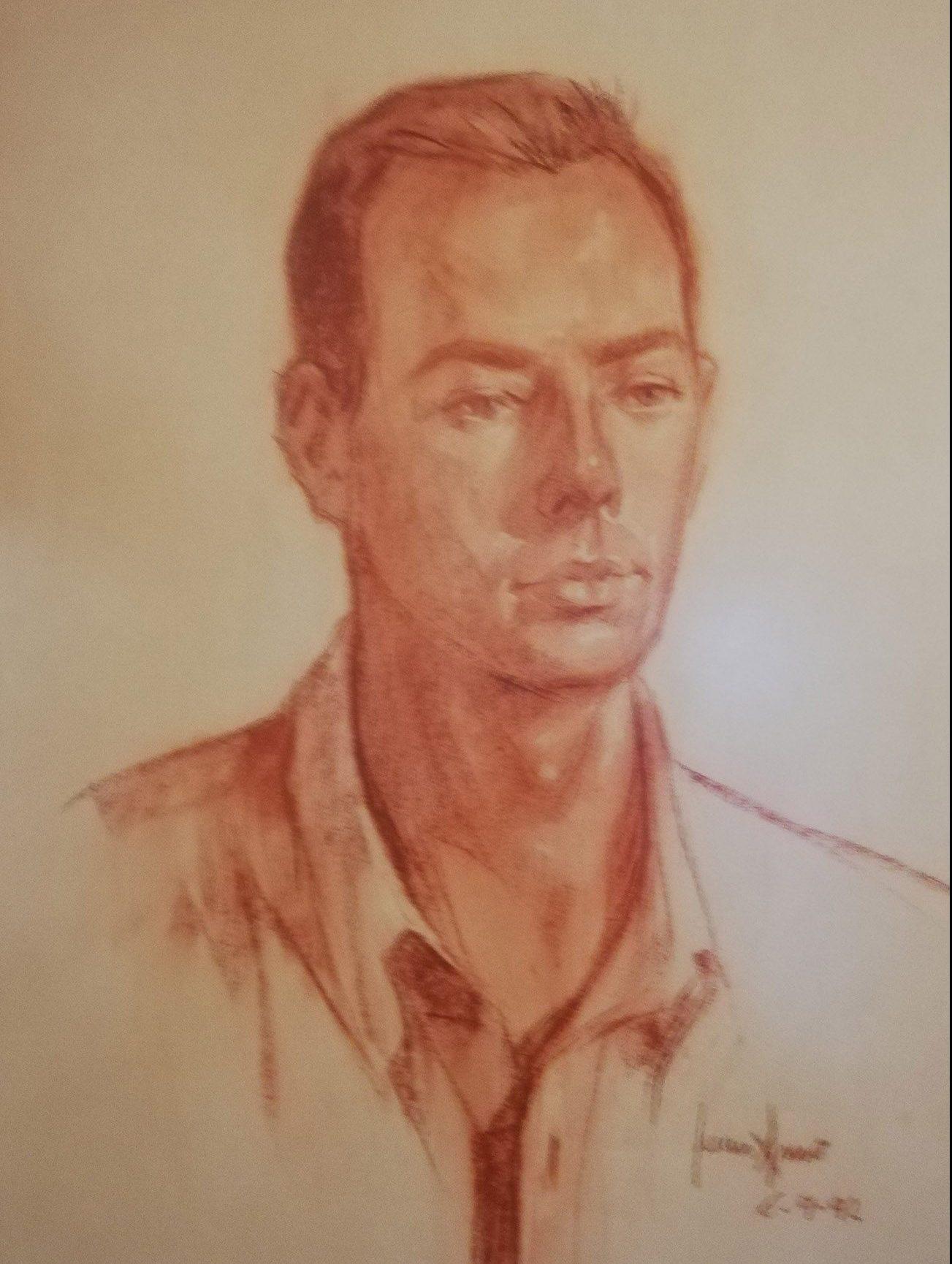 GREGORIO CASTILLO MORENO. Retrato Dibujo de Juan Amo.