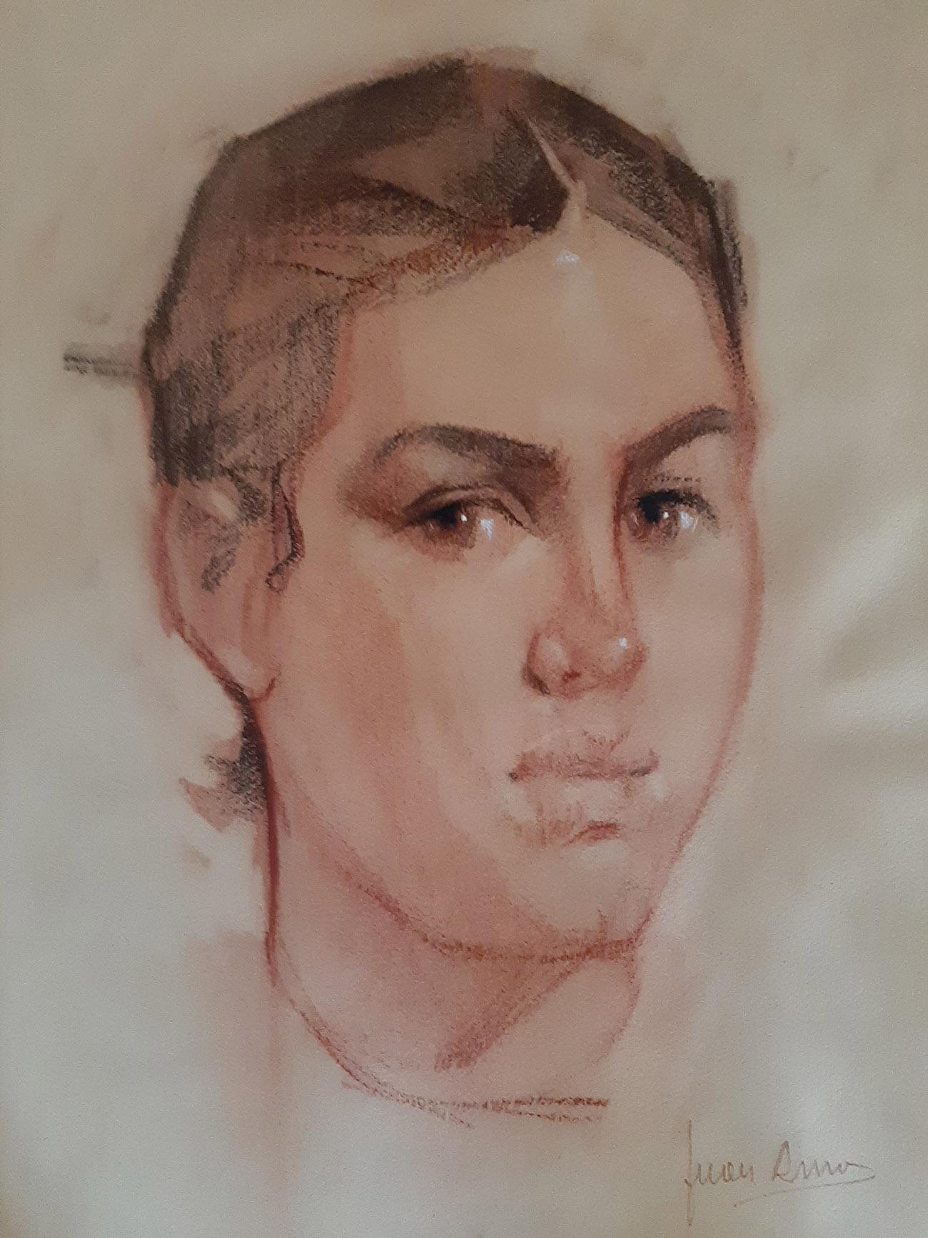HOMENAJE A LA MUJER MANCHEGA. Dibujo de Juan Amo.