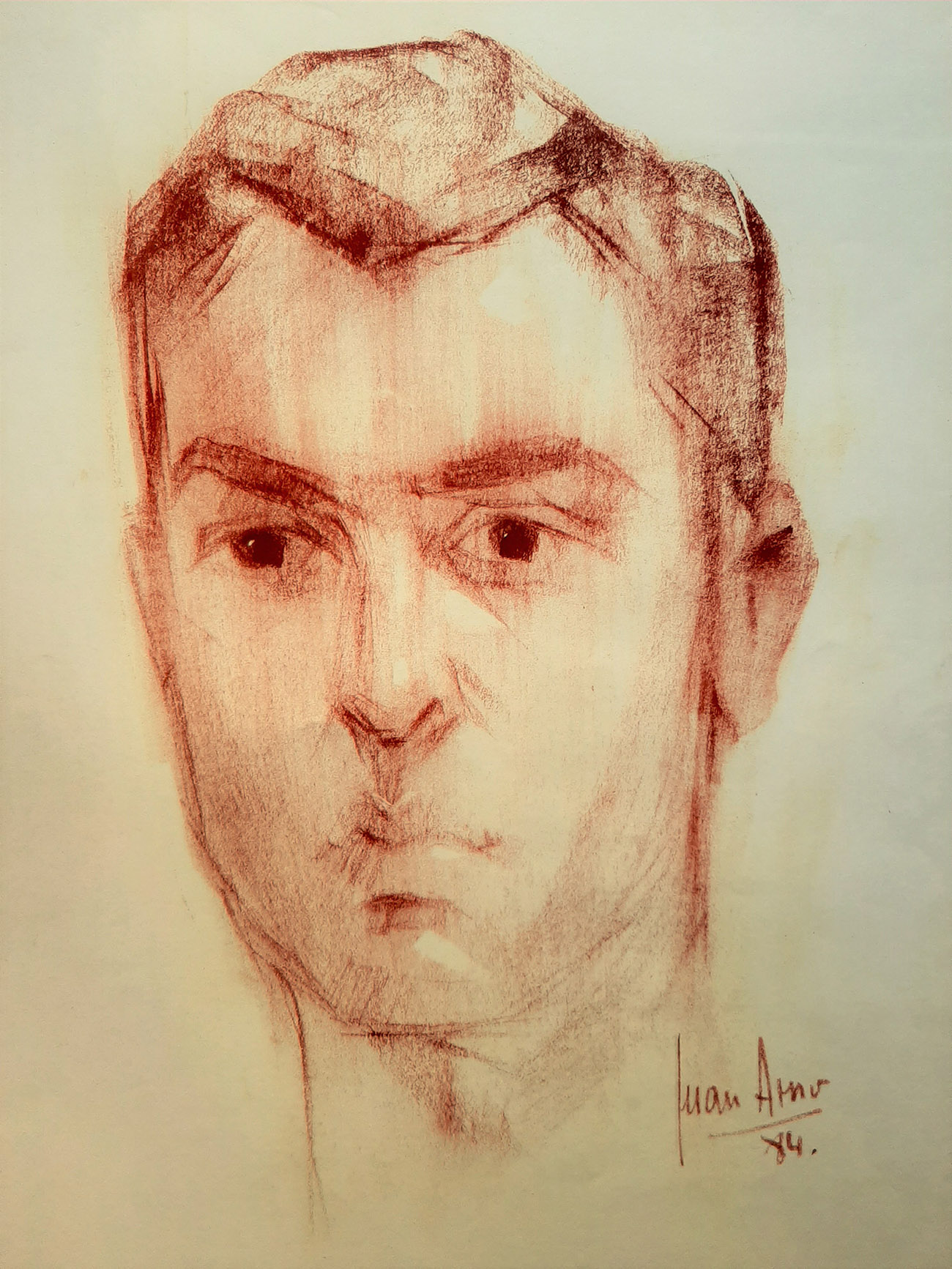 JOSÉ ÁNGEL RAMIREZ CUENCA. Retrato Dibujo de Juan Amo.