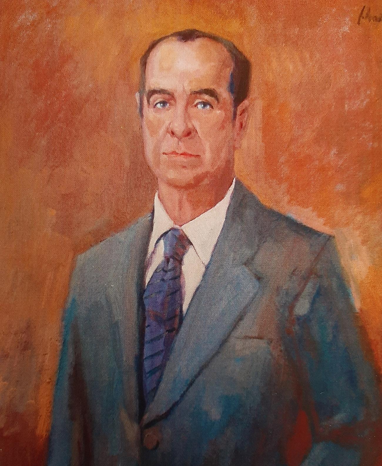 JOSÉ LUIS FERNÁNDEZ FONTECHA. Óleo de Juan Amo.