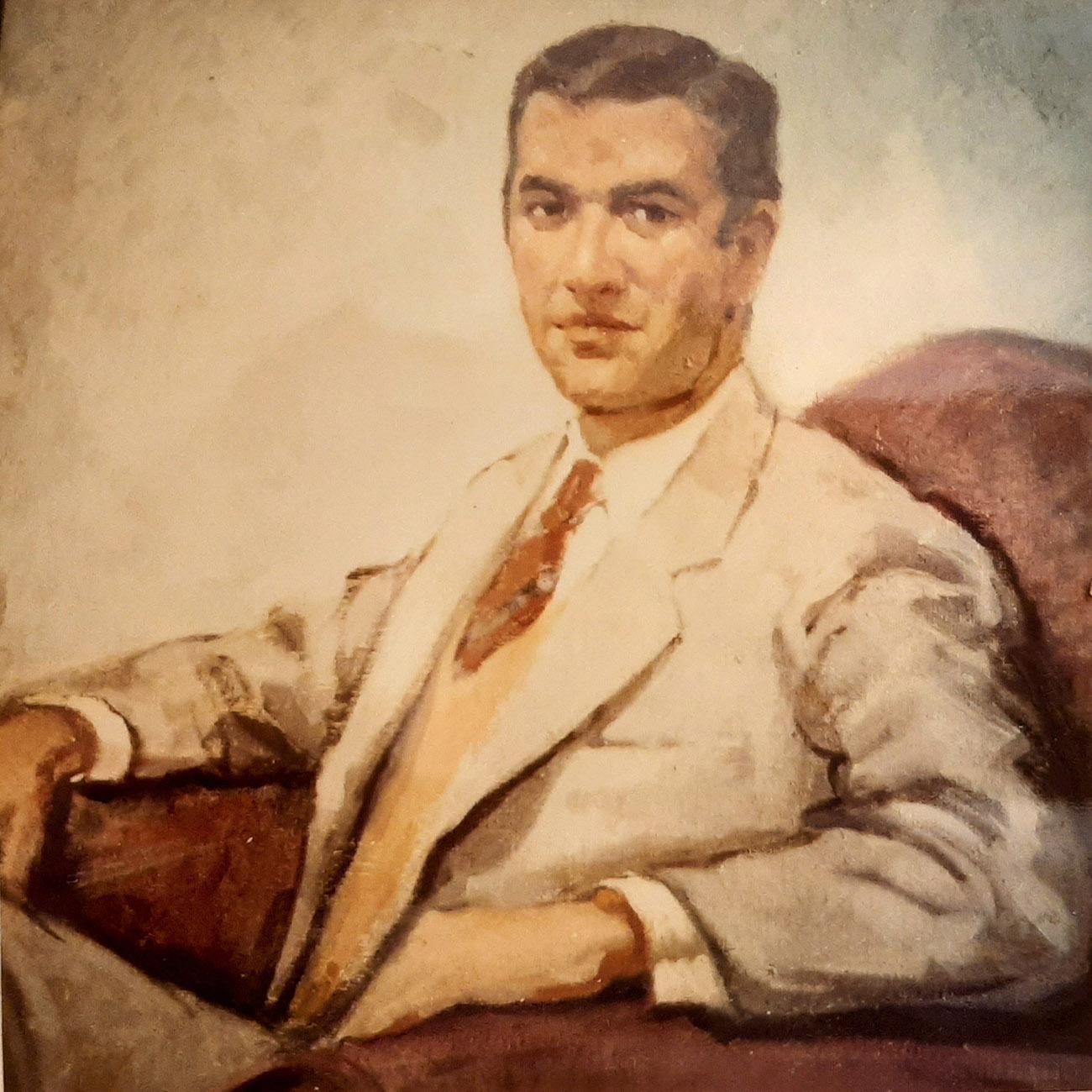 JOSE MANUEL DUEÑAS MONTERO. Óleo de Juan Amo.