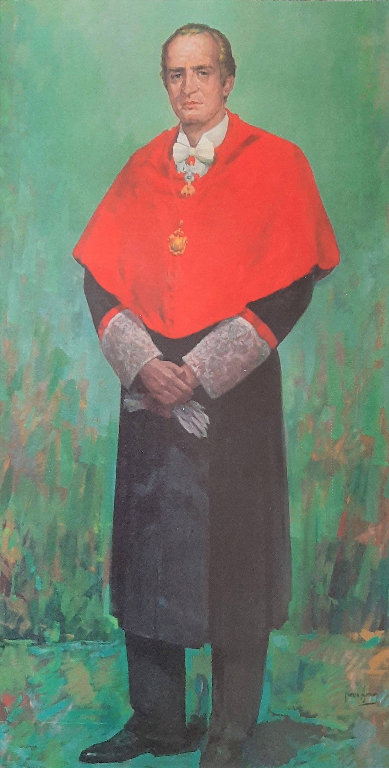 JUAN CARLOS I REY DE ESPAÑA. Óleo de Juan Amo. Rectorado Universidad Castilla - La Mancha. Ciudad Real.