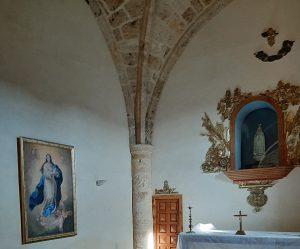 Juan Amo. (1949). La Inmaculada del Escorial. Óleo - Lienzo. Ermita de La Virgen de la Encarnación. El Robledo (Albacete).