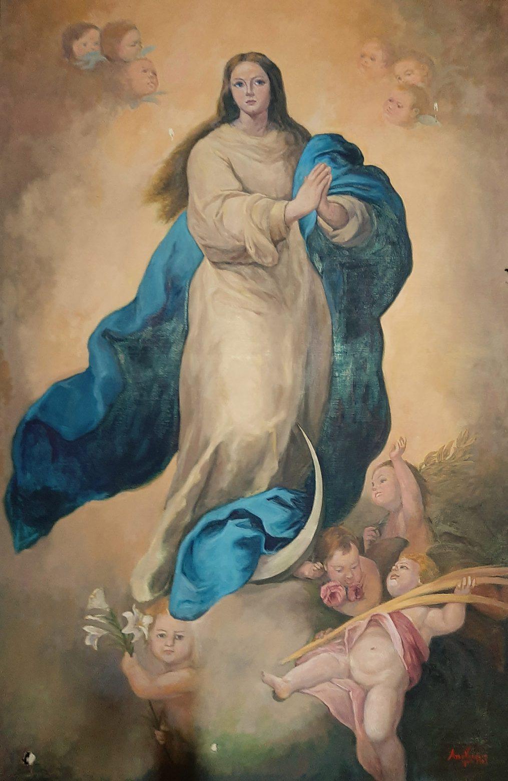 Juan Amo. (1949). Óleo - Lienzo. Ermita de la Virgen de la Encarnación. El Robledo (Albacete).