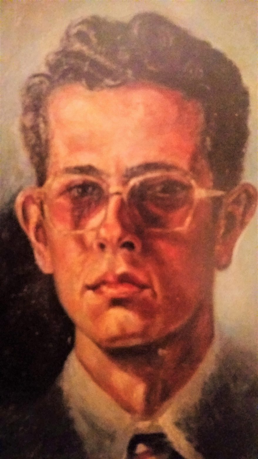 Juan Amo. (1950). Autorretrato. Óleo - Lienzo. 40 x 30.