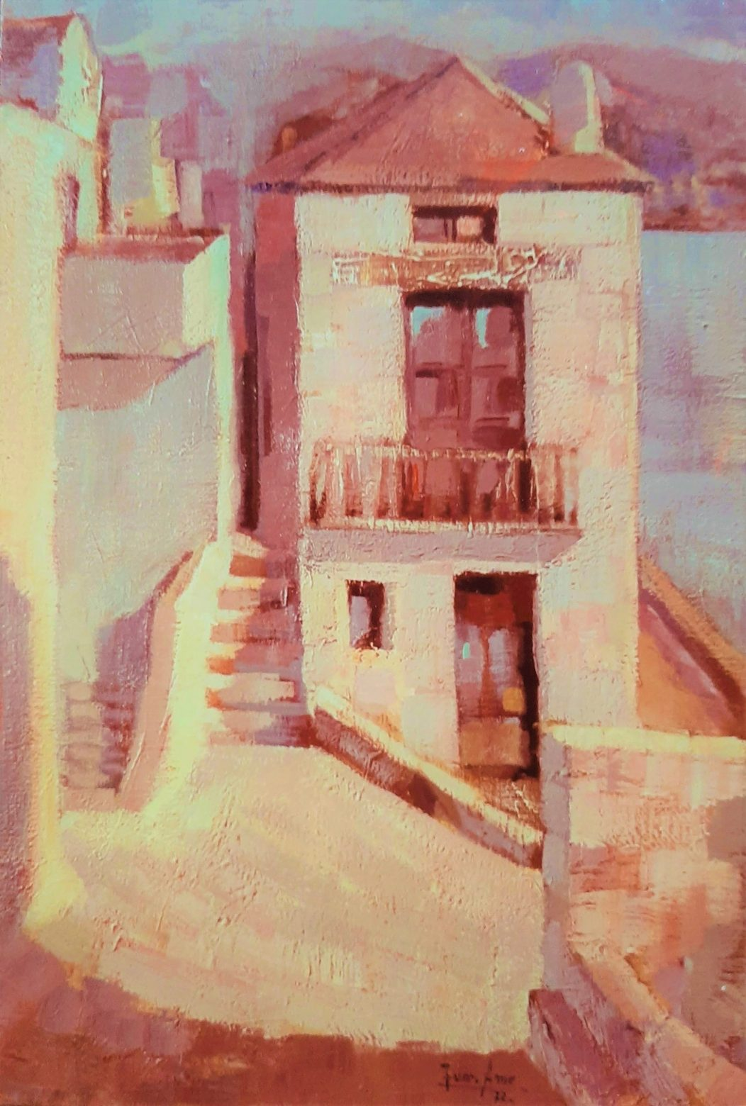 Juan Amo. (1972). Altea. Óleo - Lienzo. Colección Privada.