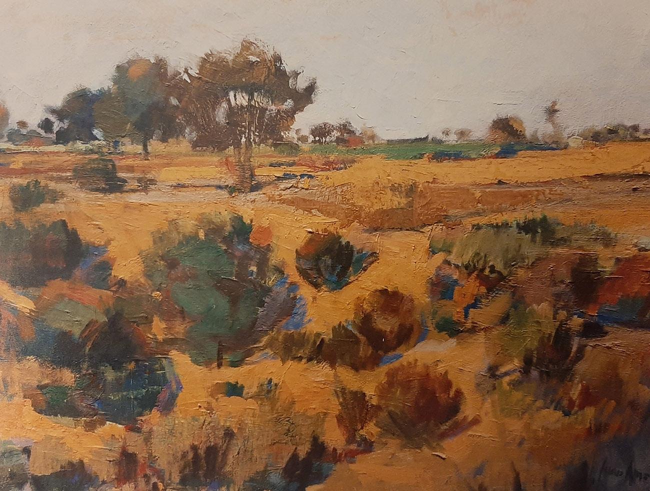 Juan Amo. (1976). Nuestro Campo. Óleo - Lienzo. Colección Privada.