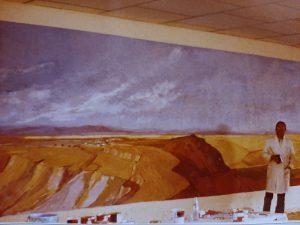 Juan Amo. (1980). MURAL. Club social de PAMSALBA. (3x13 metros)