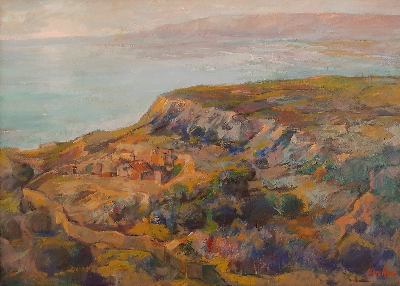 Juan Amo. (1989). Al Fondo a la Derecha Francia. Óleo - Lienzo. 65 x 93. Colección Privada.