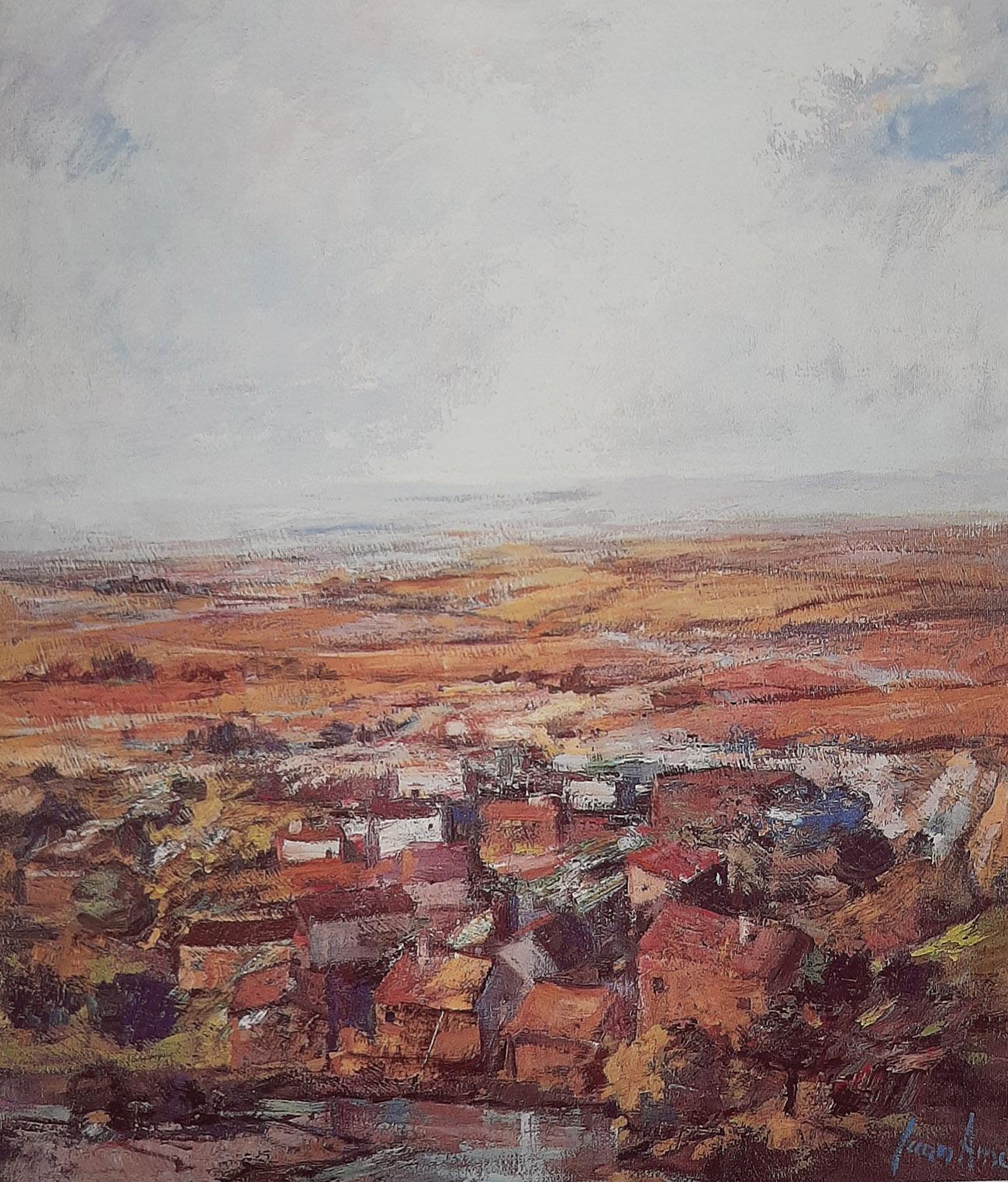 Juan Amo. (1994). Casas del Tapial. Óleo - Lienzo. 61 x 50. Colección Privada.