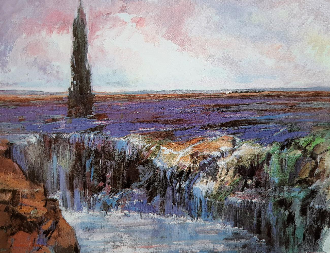 Juan Amo. (1994). La Riada. Óleo - Lienzo. 73 x 92. Colección Privada.
