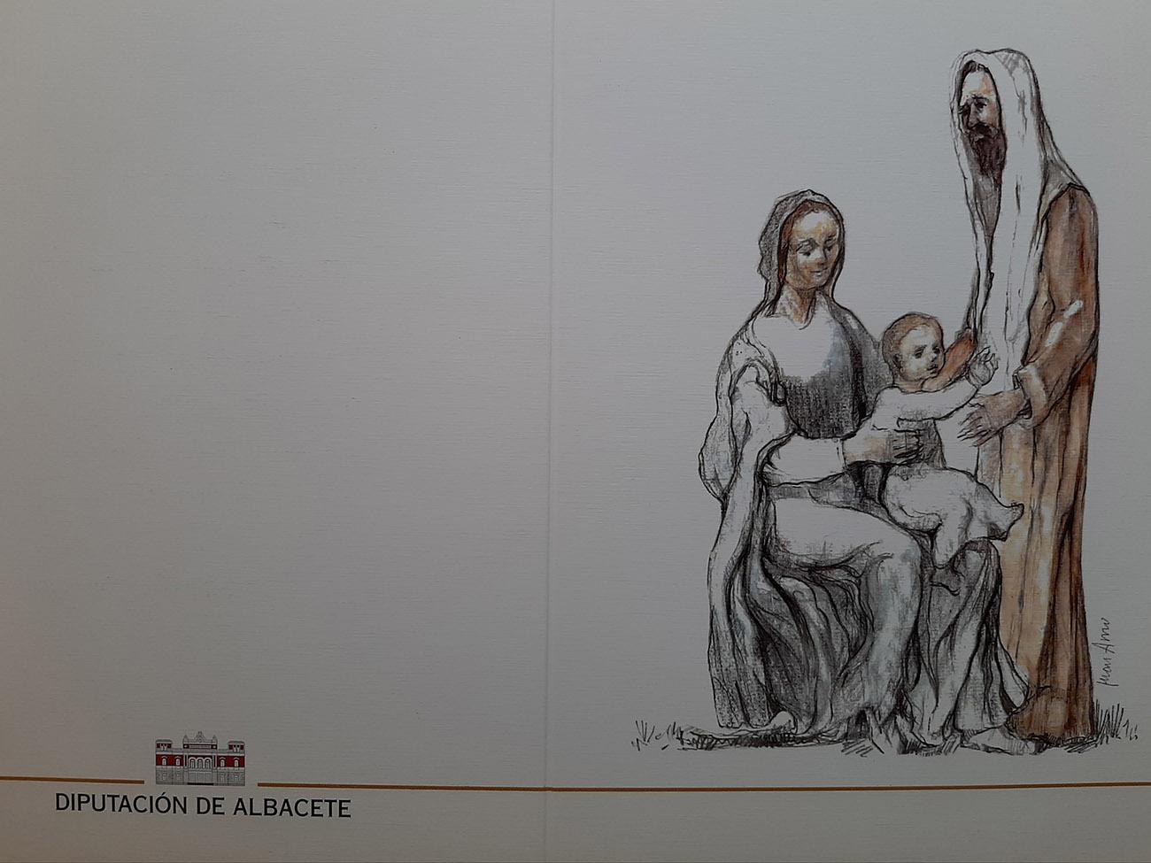 Juan Amo. (1998). Felicitación Navidad. Diputación de Albacete.