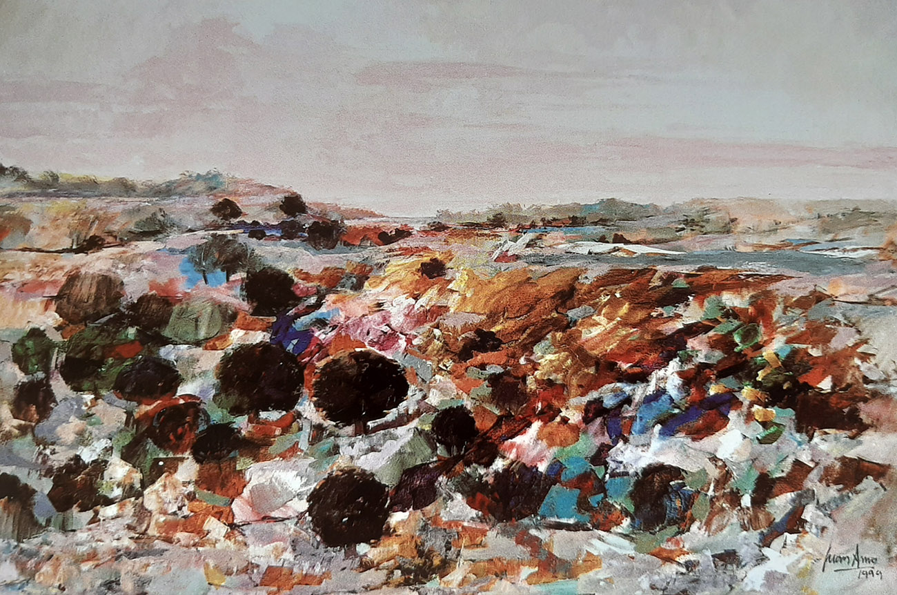 Juan Amo. (1999). Colores. Óleo - Lienzo. 114 x 162. Colección Privada.