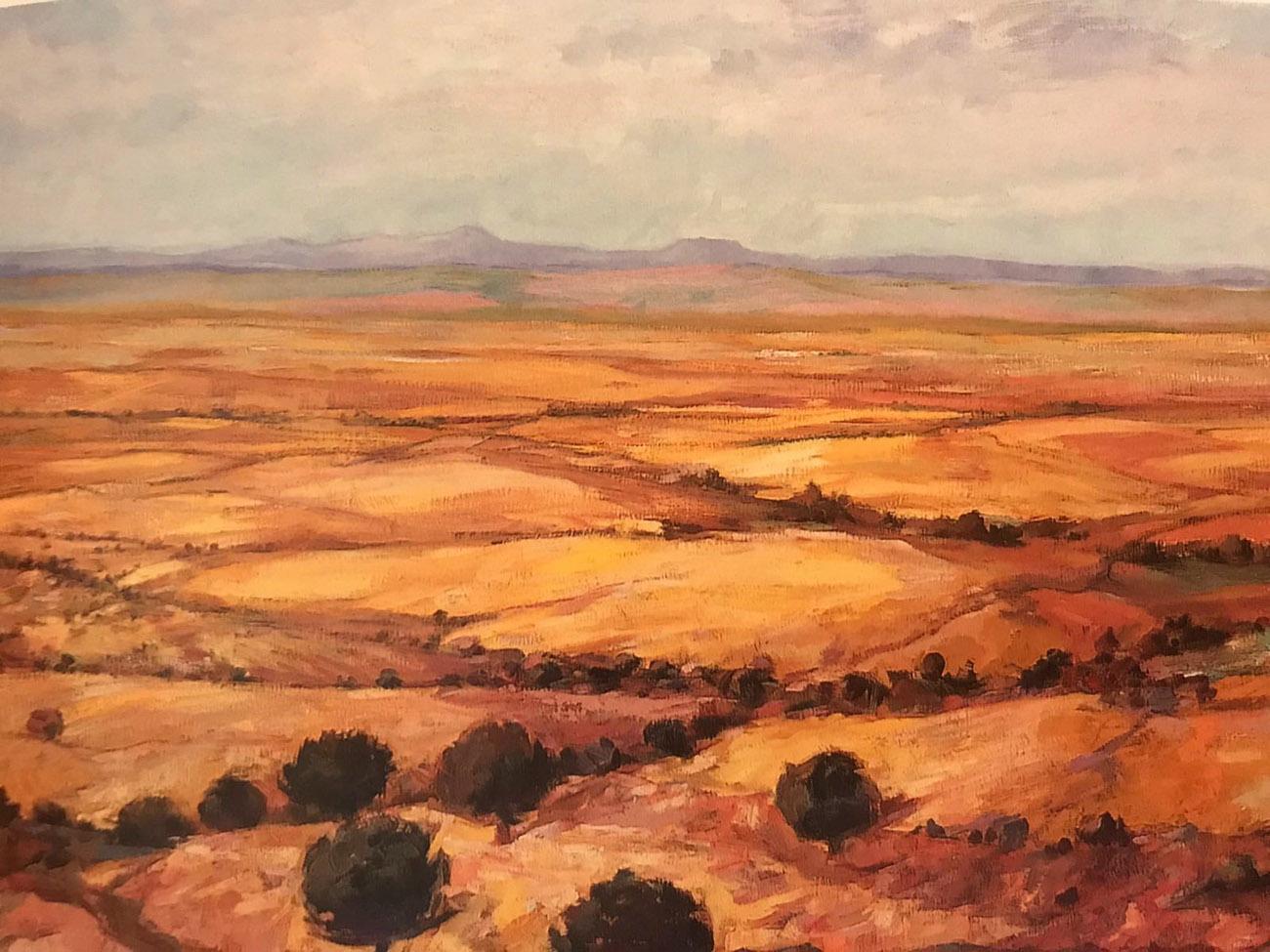 Juan Amo. (1999). Rastrojos. Óleo - Lienzo. 81 x 116. Colección Privada.
