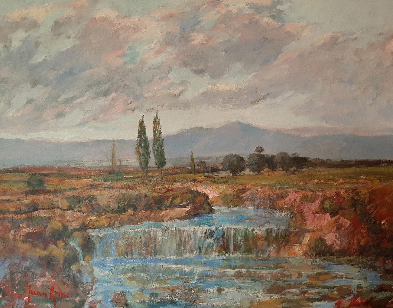 Juan Amo. (2000). Agua fresca del Río. Óleo - Lienzo. 54 x 73. Colección Privada.