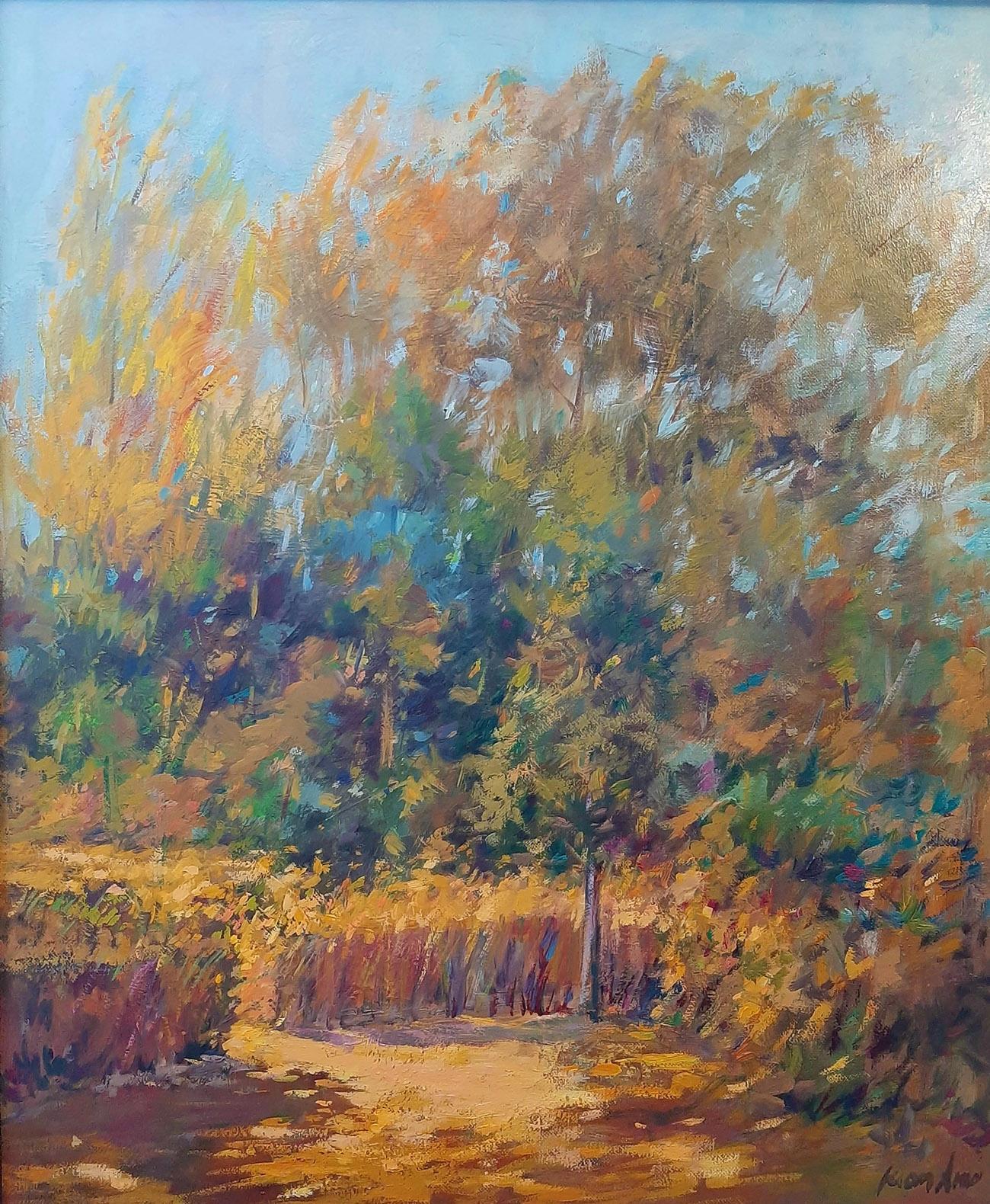 Juan Amo. (2000). Árboles con Luz Propia. 56 x 47. Colección Privada.