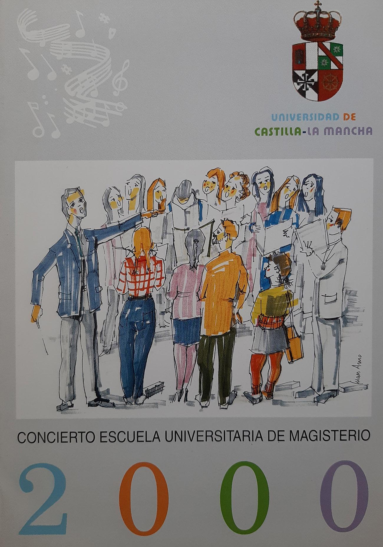 Juan Amo. (2000). CARTEL. Concierto Escuela Universitaria de Magisterio.