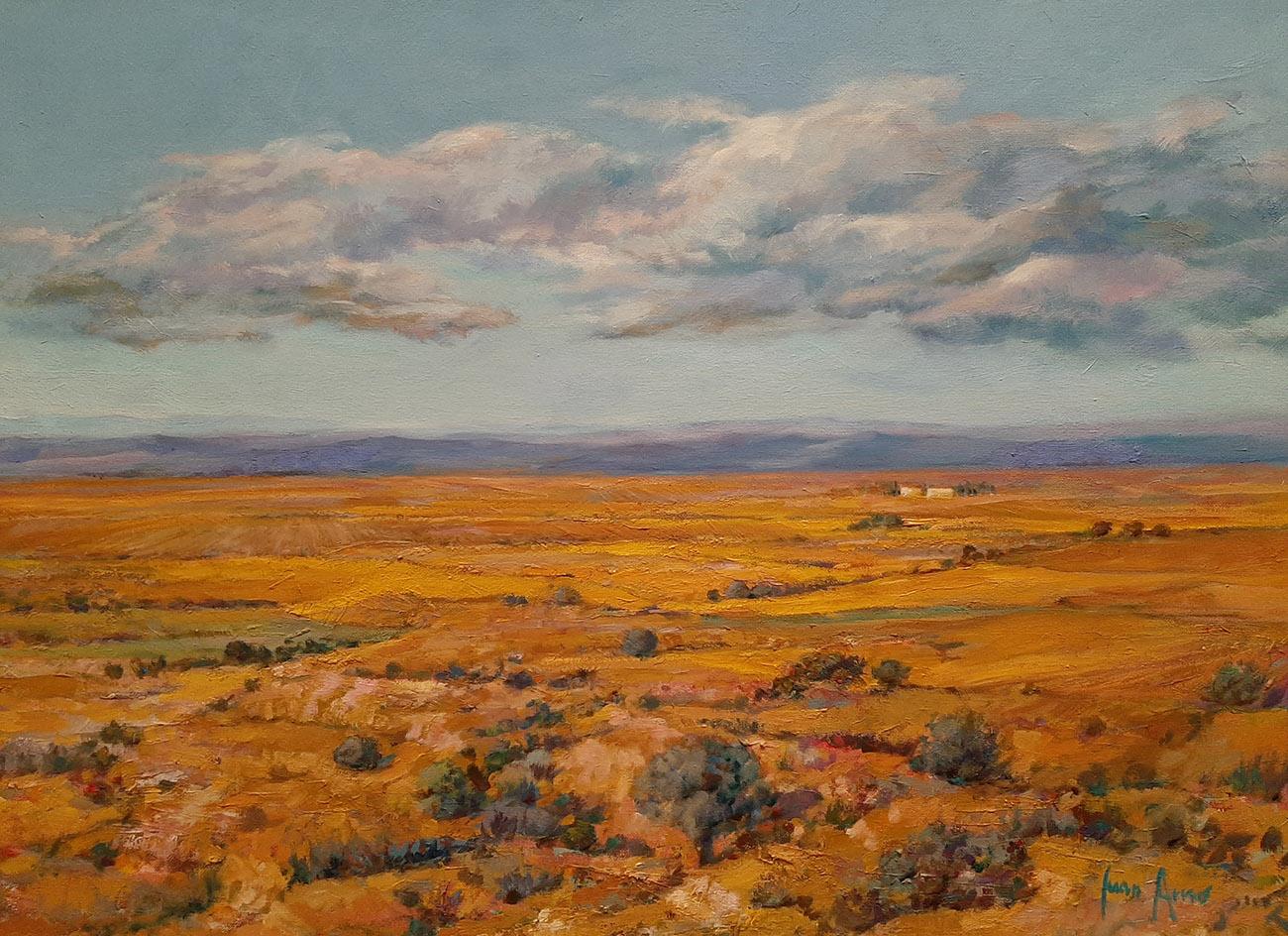 Juan Amo. (2002). La Mancha de Juan Amo. Óleo - Lienzo. 53 x 72. Colección Privada.