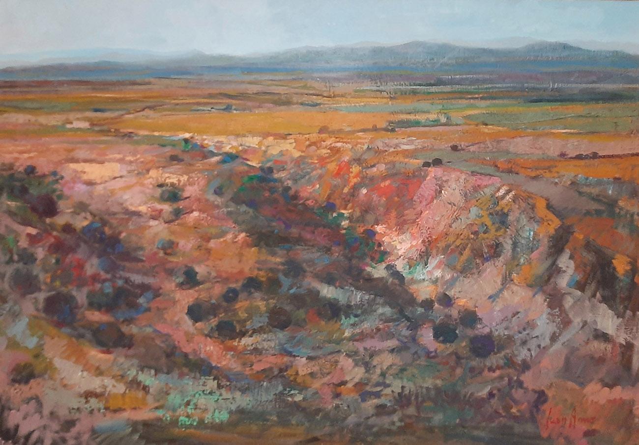 Juan Amo. (1988). Mancha Serrana. 70 x 100. Colección Privada.