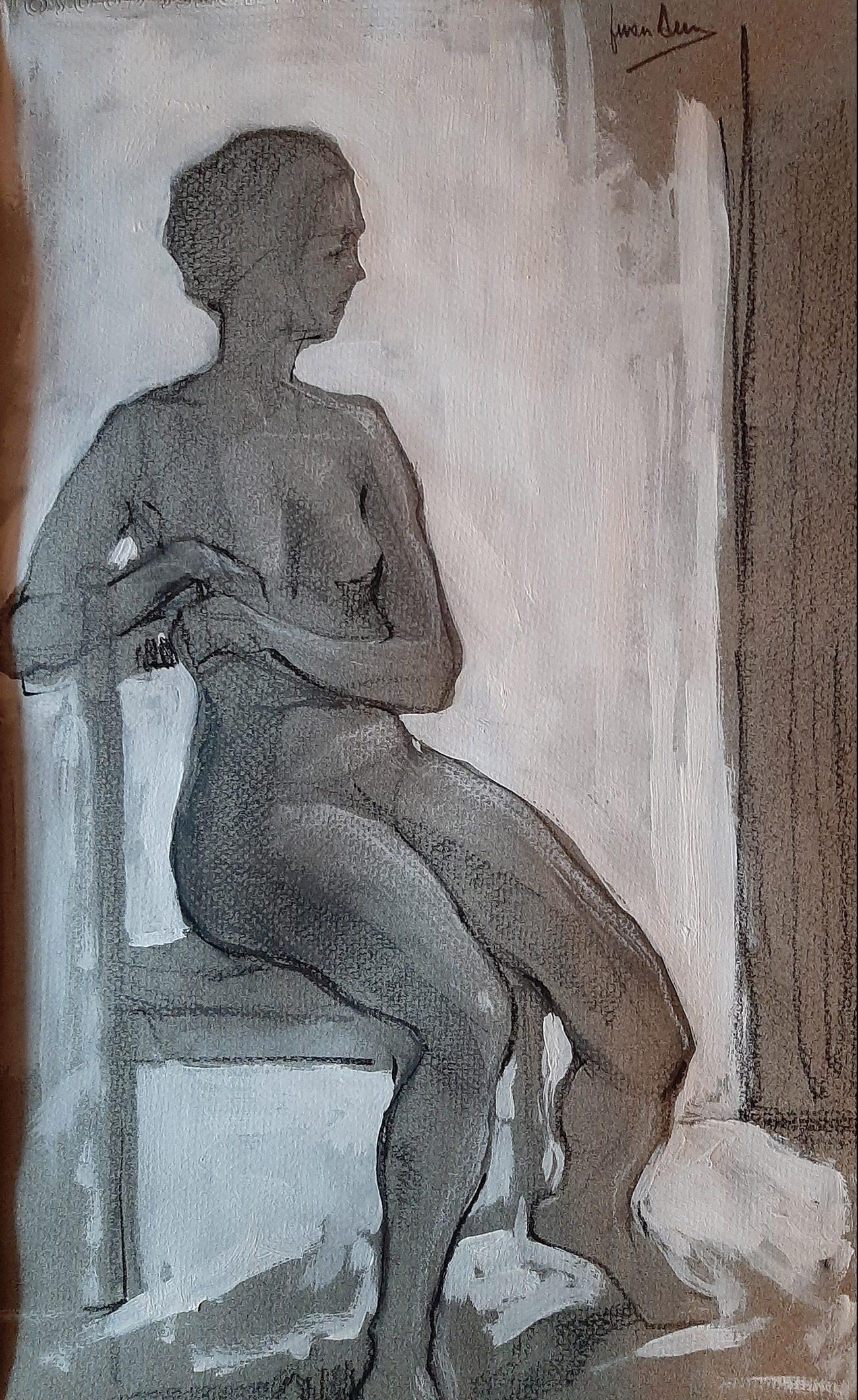 Juan Amo. Apunte del Natural.