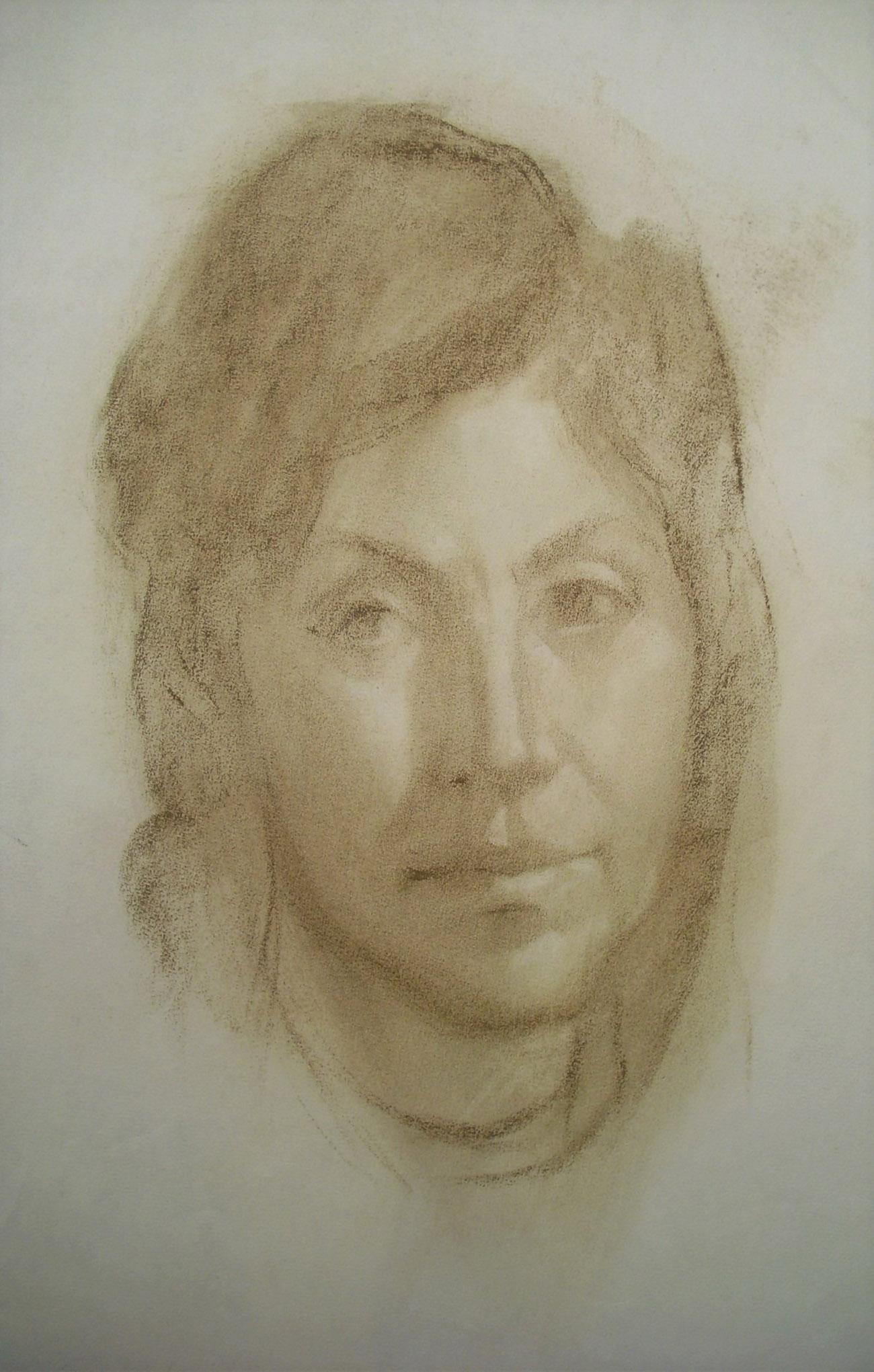 LLANOS SAUS PORTERO. Retrato Dibujo de Juan Amo..