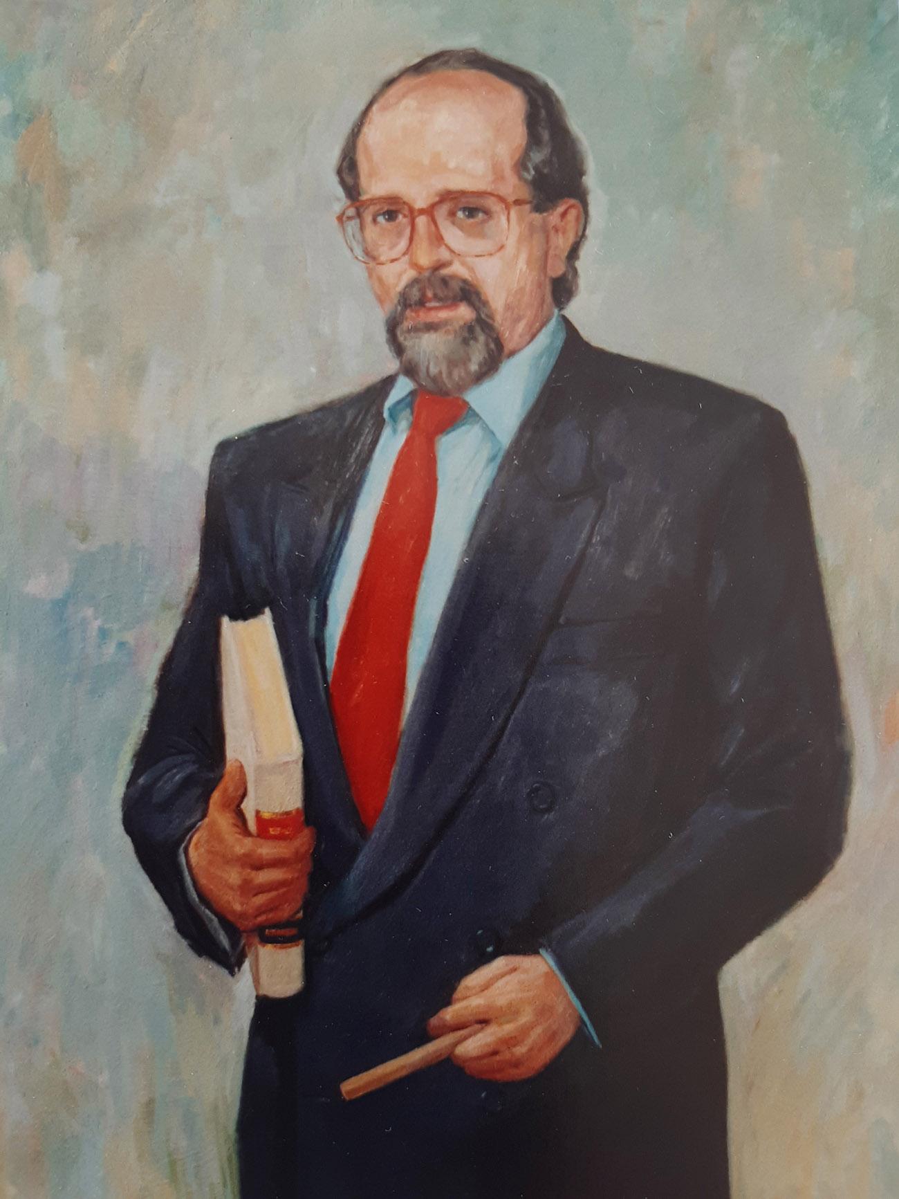 LUIS ARROYO ZAPATERO. Óleo de Juan Amo.