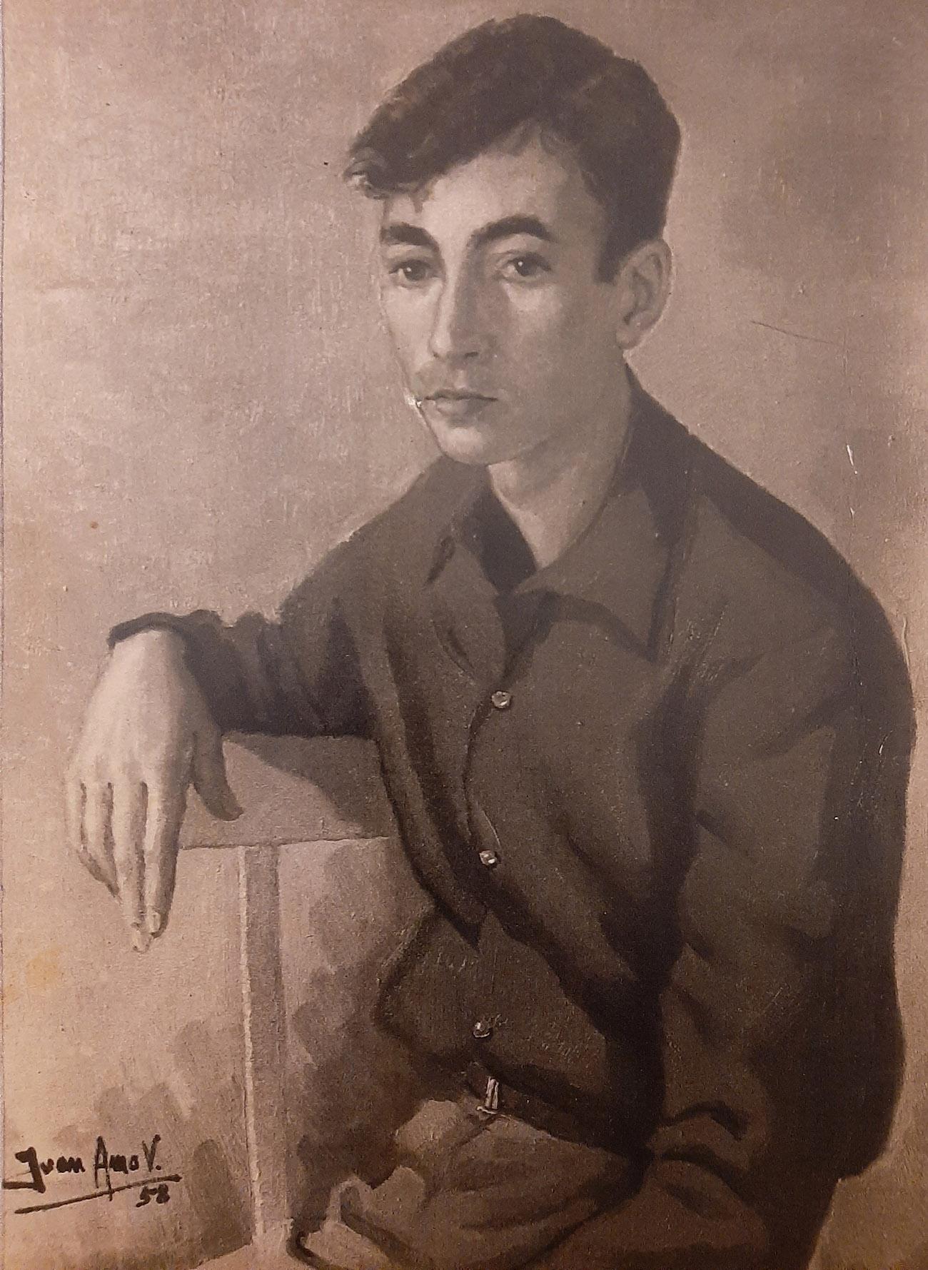 MARIANO NAVARRO RUBIO. Óleo de Juan Amo.