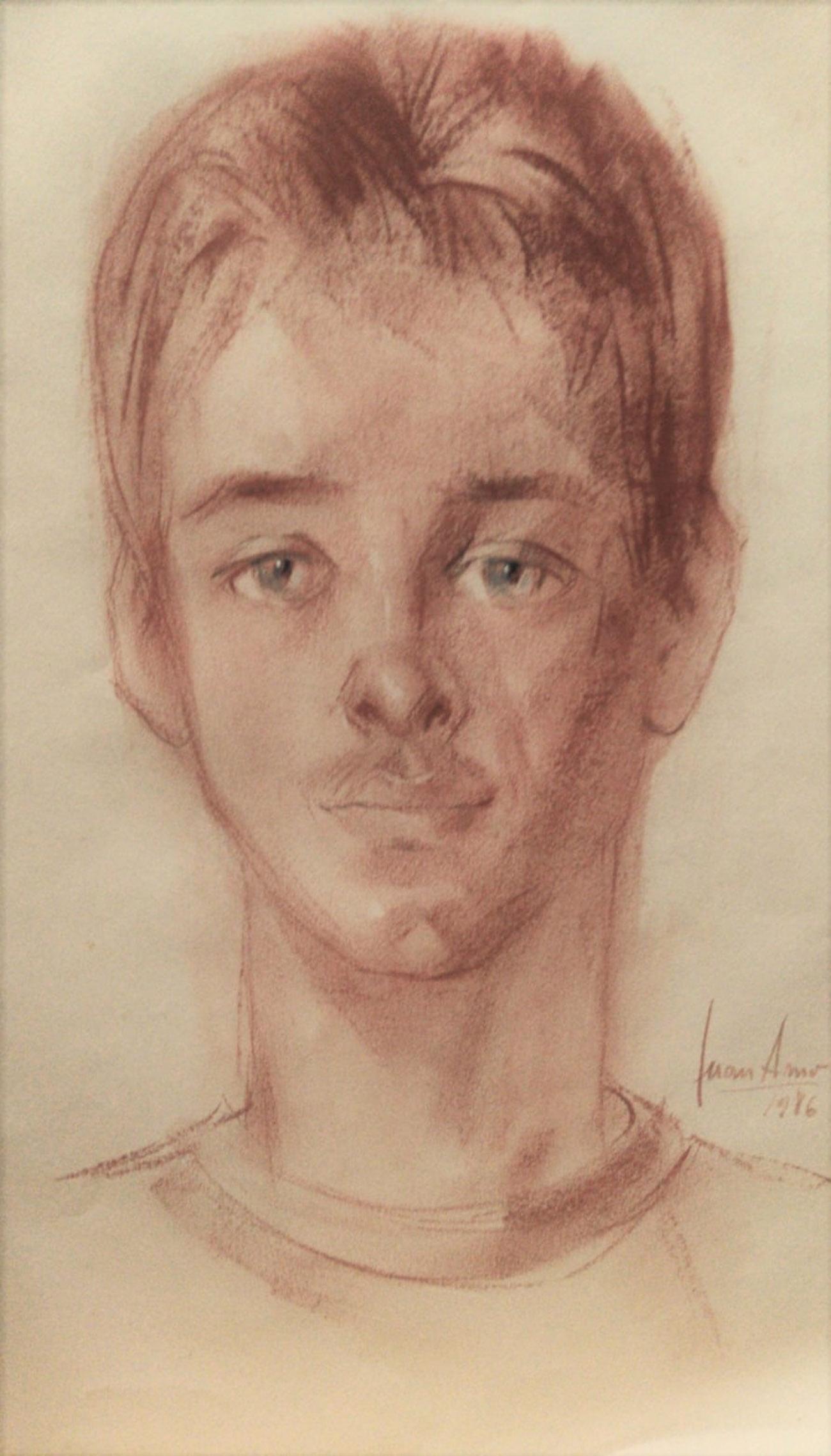 ONÉSIMO EDUARDO GONZÁLEZ MARTÍNEZ. Retrato Dibujo de Juan Amo.