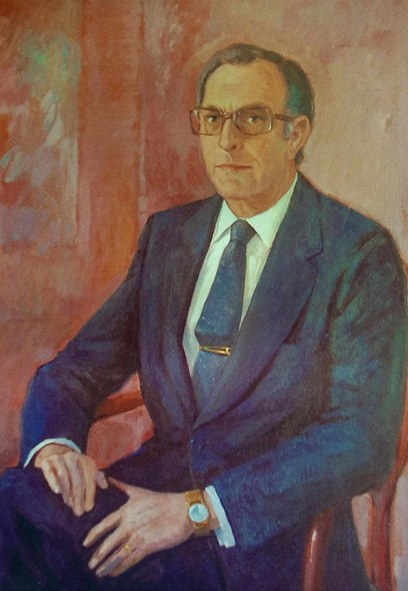 MIGUEL PANADERO MOYA. Óleo de Juan Amo.