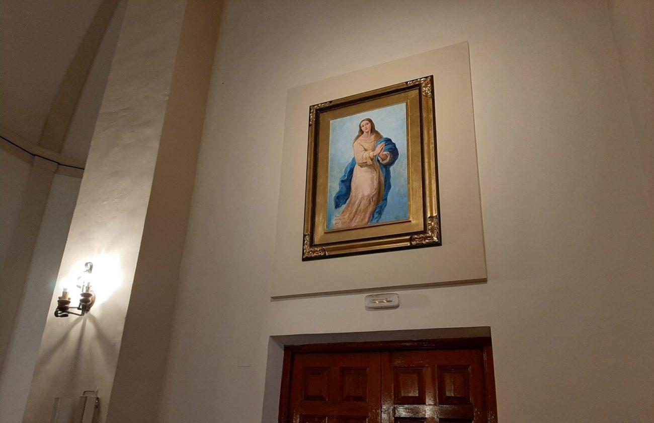 Juan Amo. La Inmaculada Concepción. Óleo - Lienzo. Iglesia de Nuestra Señora de Fátima. Albacete.