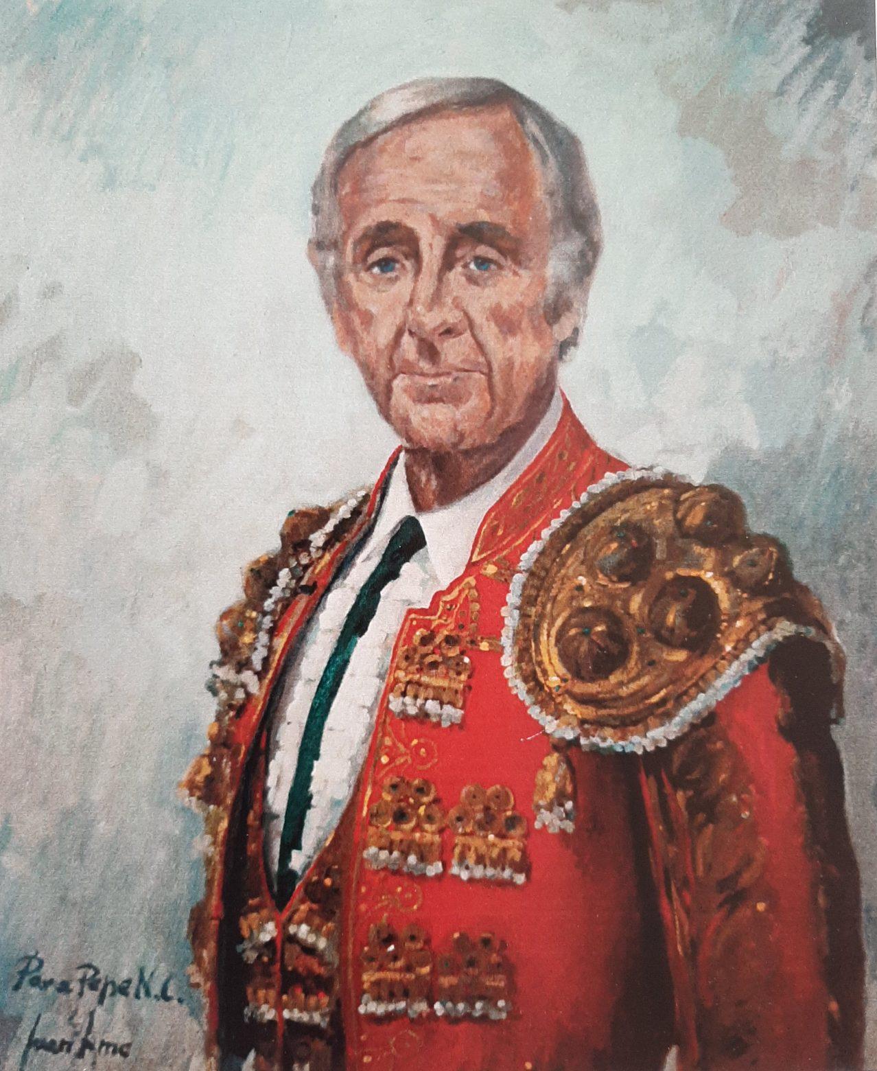 PEPE NÚÑEZ CORTÉS. Óleo de Juan Amo.