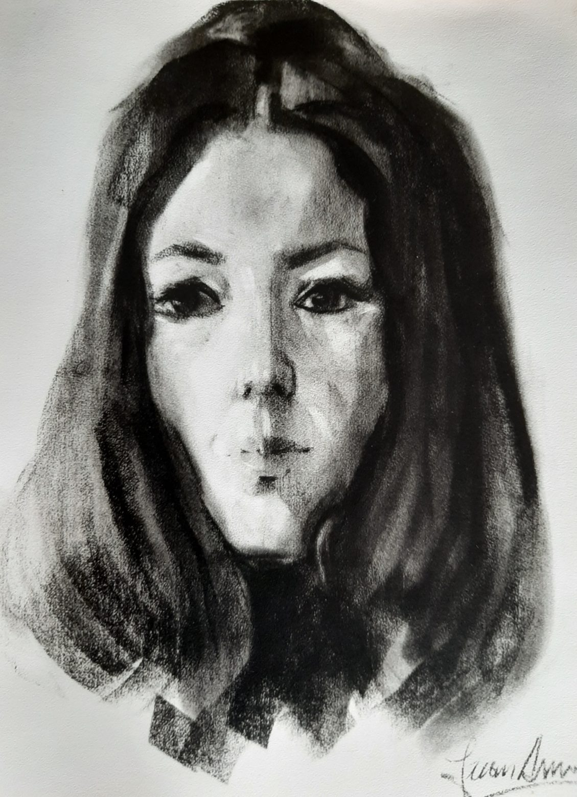 Retrato Dibujo de Juan Amo.