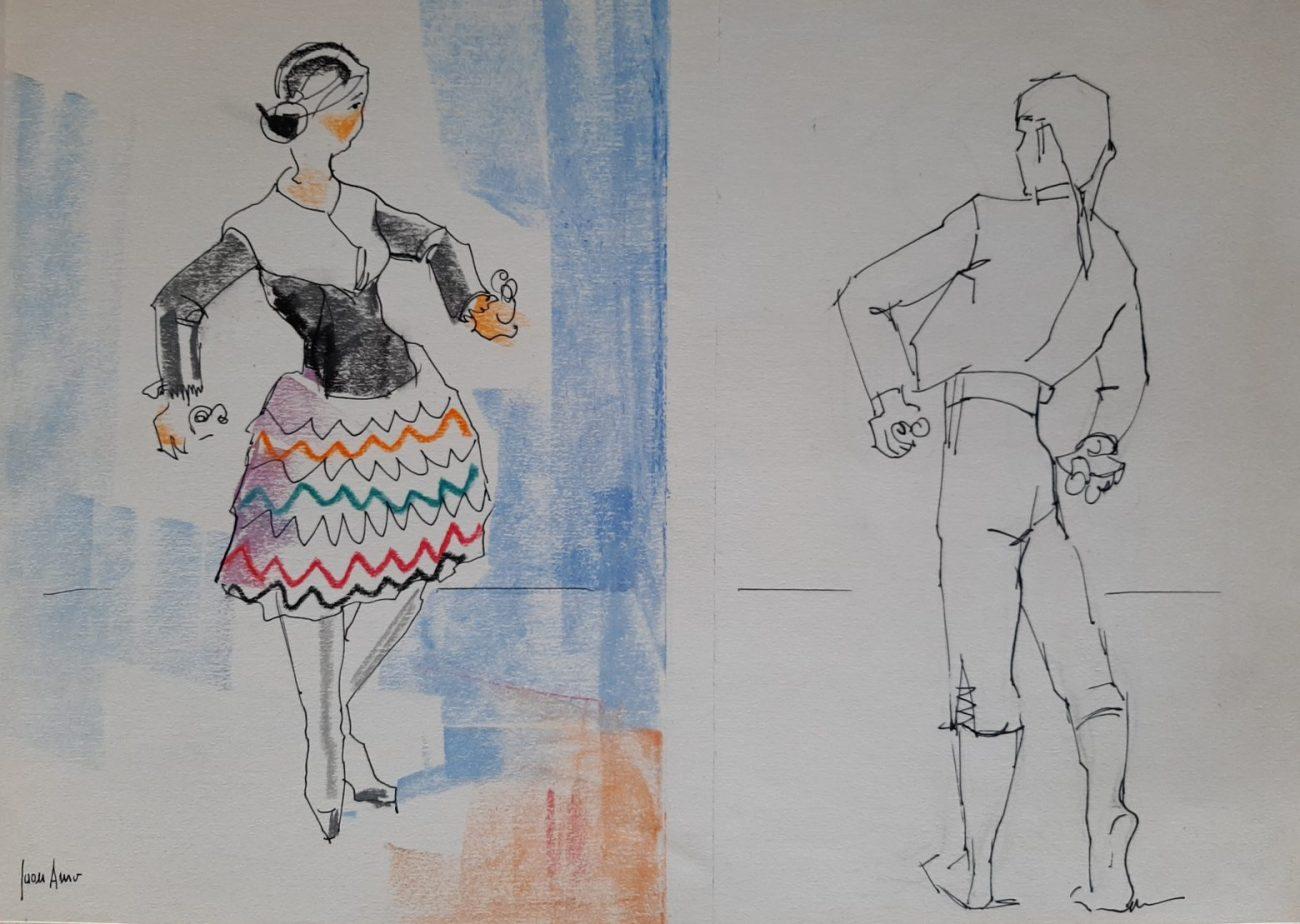 Juan Amo (1986). Homenaje al Grupo de Danzas de Magisterio de Albacete.