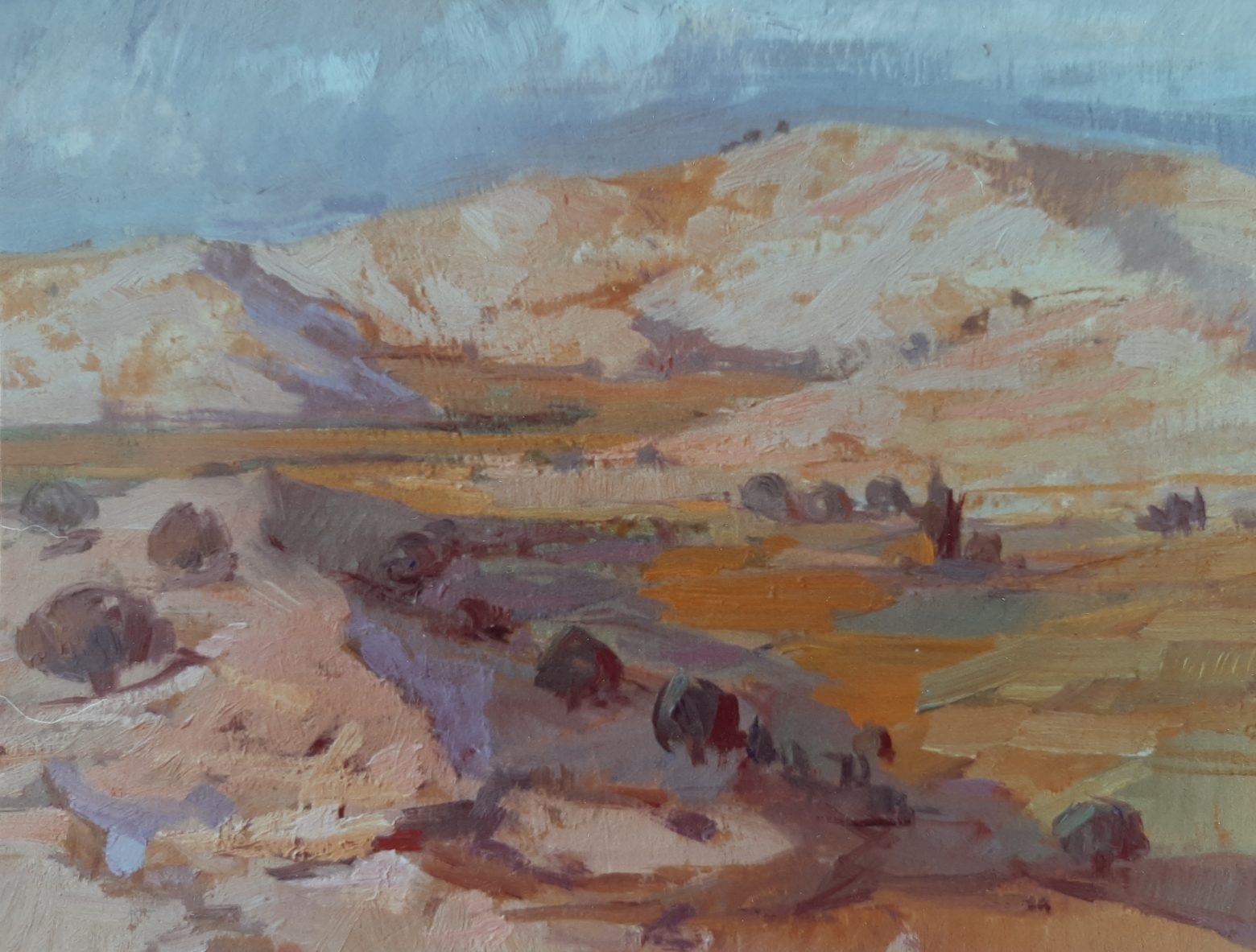 Juan Amo. (1976). Cerros levantinos. Óleo - Lienzo. Colección Privada.
